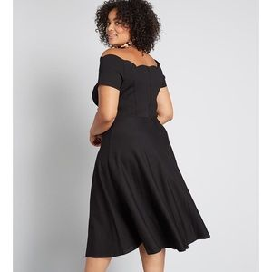 ModCloth Timeless Favorite Off-the-Shoulder Dress